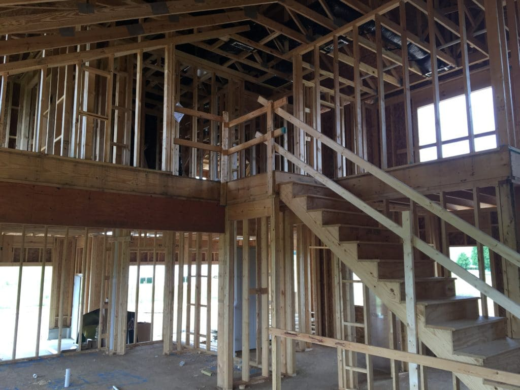 New Home Construction - Interior Framing