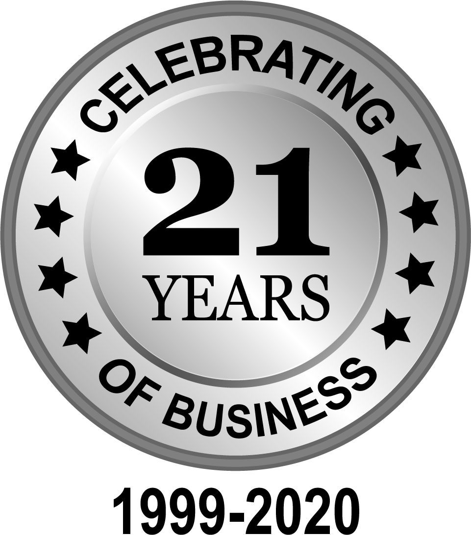 Clebrating 21 Years of Business 1999-2020