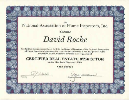 NAHI Certification - David Roche